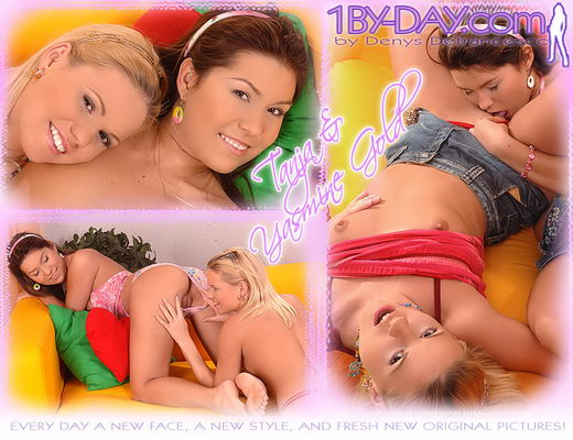 Tanja & Yasmine Gold - `9015` - for 1BY-DAY ARCHIVES