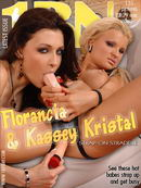 Florancia & Kassey Kristal in Strap-On Straddle gallery from 1BY-DAY
