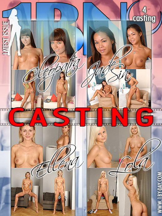 Cleopatra & Jade Sin & Ellena & Lola - `Casting` - for 1BY-DAY