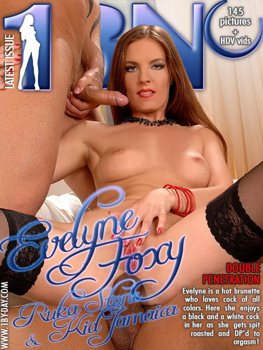Evelyne Foxy - `Double Penetration` - for 1BY-DAY