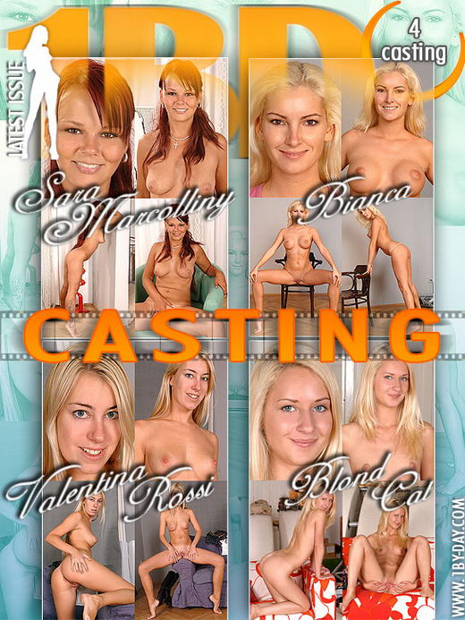 Sara Marcolliny & Bianca & Valentina Rossi & Blond Cat in Casting video from 1BY-DAY