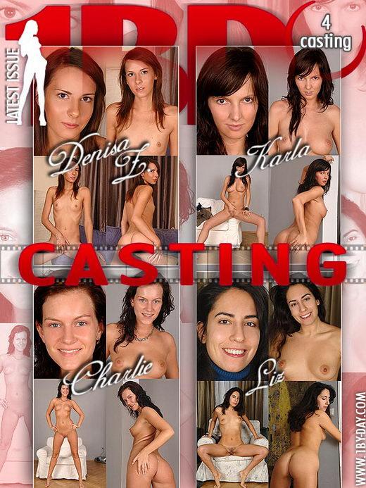 Denisa Z & Karla & Charlie & Liz - `Casting` - for 1BY-DAY