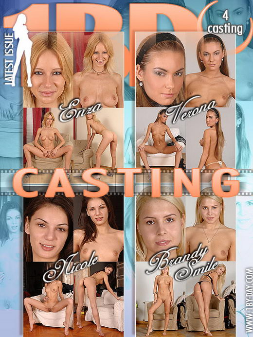 Enza & Verona & Nicole & Brandy Smile - `Casting` - for 1BY-DAY