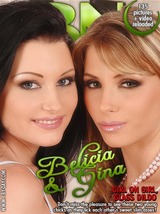 Belicia & Gina - `GG Glass Dildo` - for 1BY-DAY