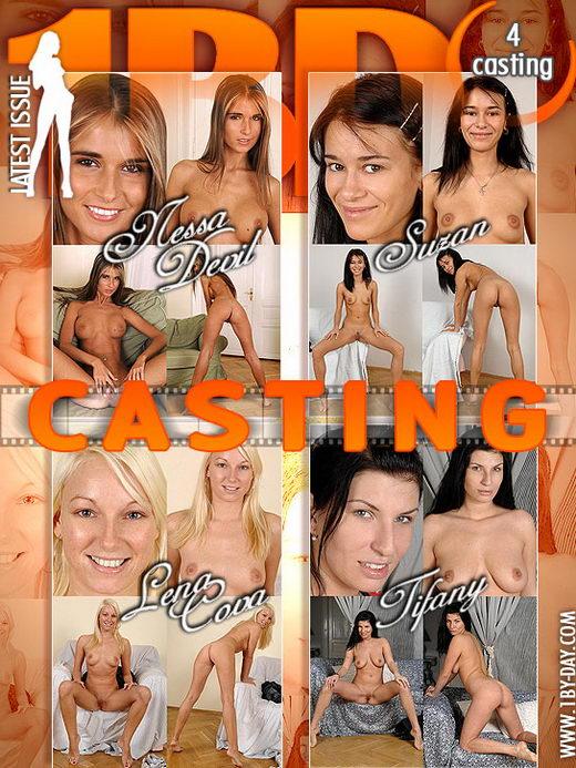 Nessa Devil & Suzan & Lena Cova & Tifany - `Casting` - for 1BY-DAY