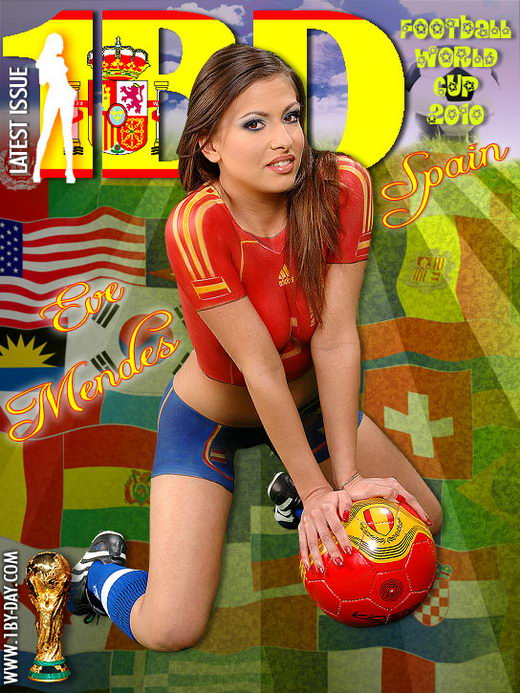 Eve Mendes - `Football World Cup - Spain` - for 1BY-DAY