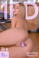 Nancy A - A Pussy Workout - Blonde Beauty Shoves A Toy In Her Slit