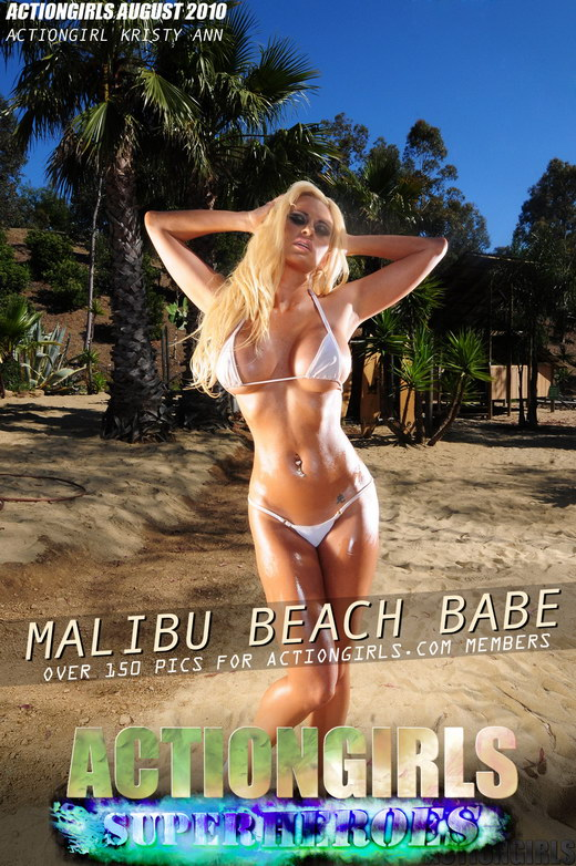 Kristy Ann - `Malibu Beach Babe` - for ACTIONGIRLS HEROES