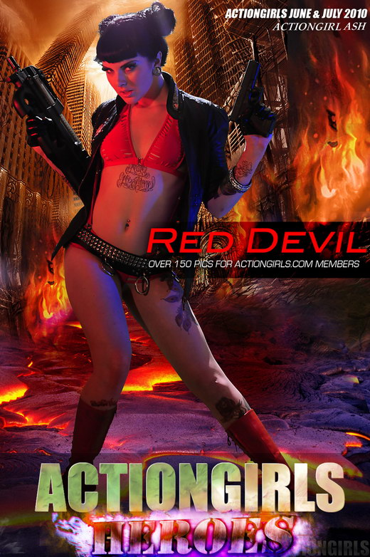 Ash - `Red Devil` - for ACTIONGIRLS HEROES