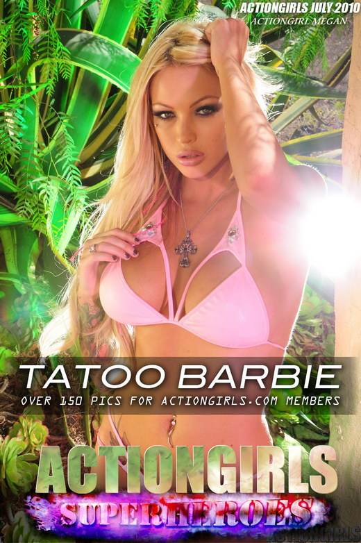 Megan - `Tattoo Barbie` - for ACTIONGIRLS HEROES