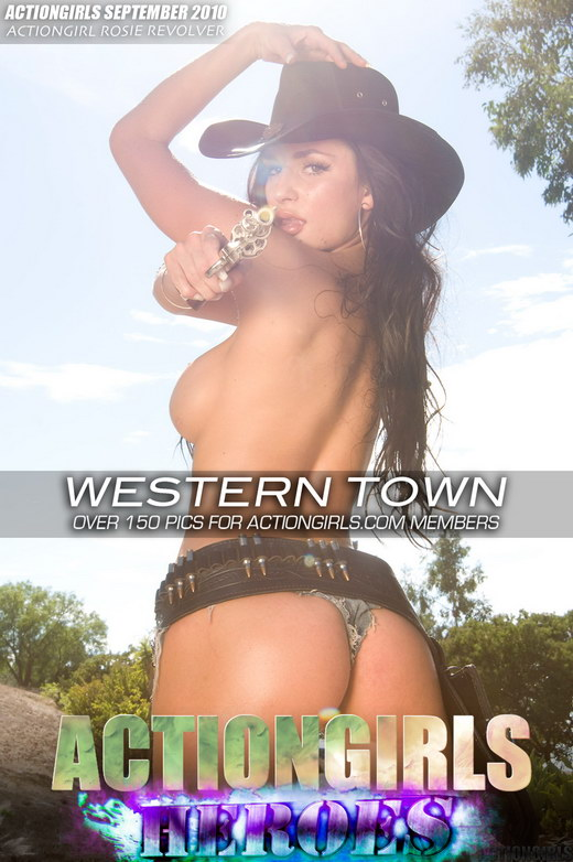 Rosie Revolver - `Western Town` - for ACTIONGIRLS HEROES