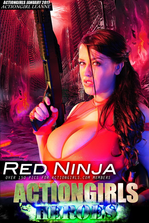Leanne - `Red Ninja` - for ACTIONGIRLS HEROES