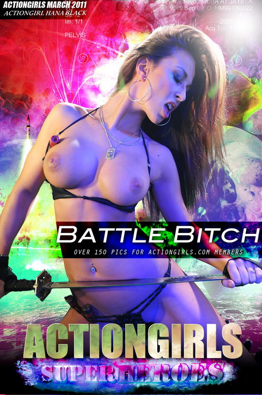 Hana Black - `Battle Bitch` - for ACTIONGIRLS HEROES