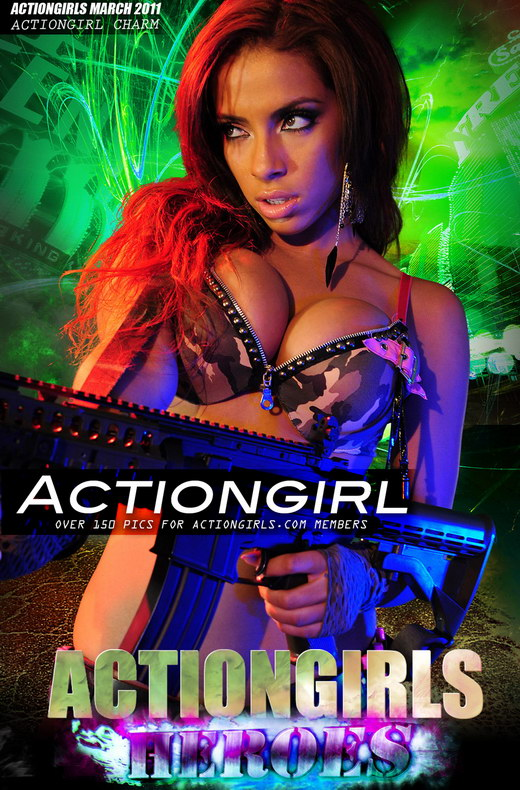Charm - `Actiongirl` - for ACTIONGIRLS HEROES