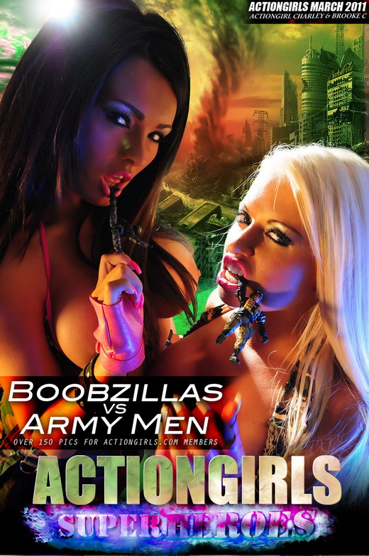 Charley & Brooke C - `Boobzillas Vs Army Men` - for ACTIONGIRLS HEROES