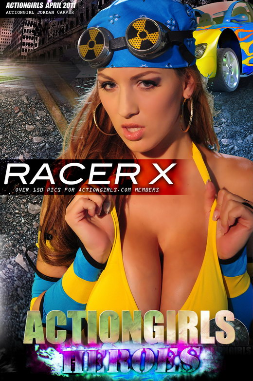 Jordan Carver - `Racer X` - for ACTIONGIRLS HEROES