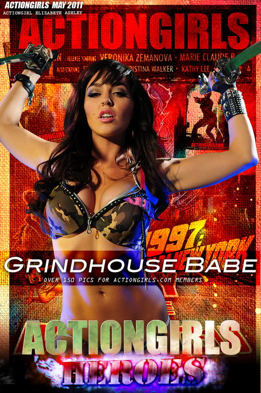 Elizabeth Ashley - `Grindhouse Babe` - for ACTIONGIRLS HEROES