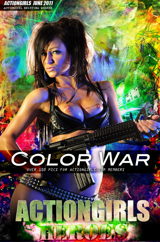 Kristina Walker - `Color War` - for ACTIONGIRLS HEROES