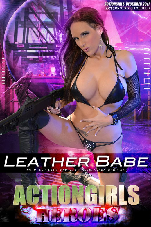 Michelle - `Leather Babe` - for ACTIONGIRLS HEROES
