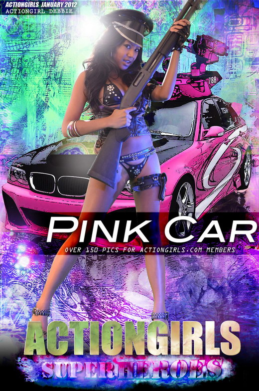 Debbie - `Pink Car` - for ACTIONGIRLS HEROES
