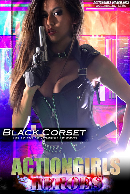 Lyna - `Black Corset` - for ACTIONGIRLS HEROES