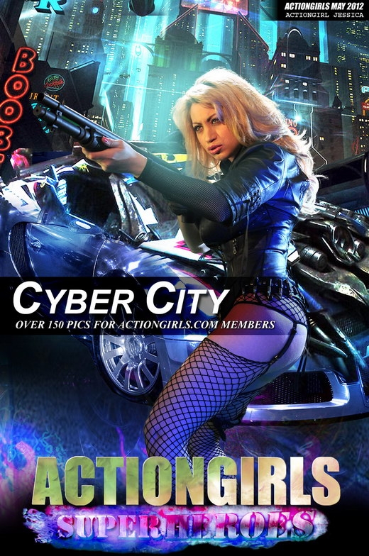 Jessica - `Cyber City` - for ACTIONGIRLS HEROES