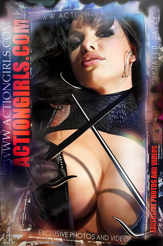 DeParis - `Actiongirls Web Posters Deluxe Ser 3` - by Scotty Jx for ACTIONGIRLS HEROES