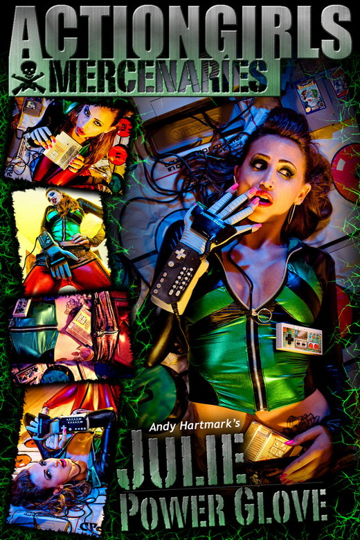 Julie - `Power Glove` - by Andy Hartmark for ACTIONGIRLS MERCS