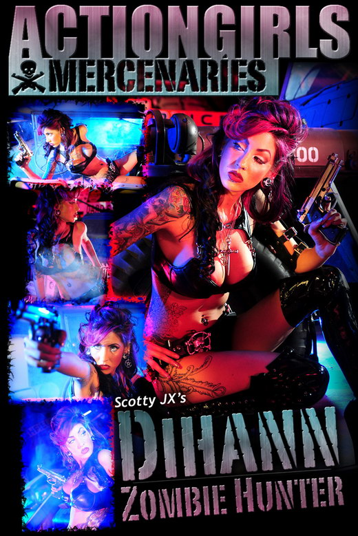 Dihann - `Zombie Hunter` - by Scotty Jx for ACTIONGIRLS MERCS