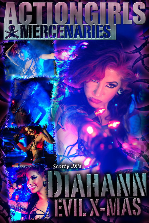Diahann - `Evil X-Mas` - by Scotty Jx for ACTIONGIRLS MERCS