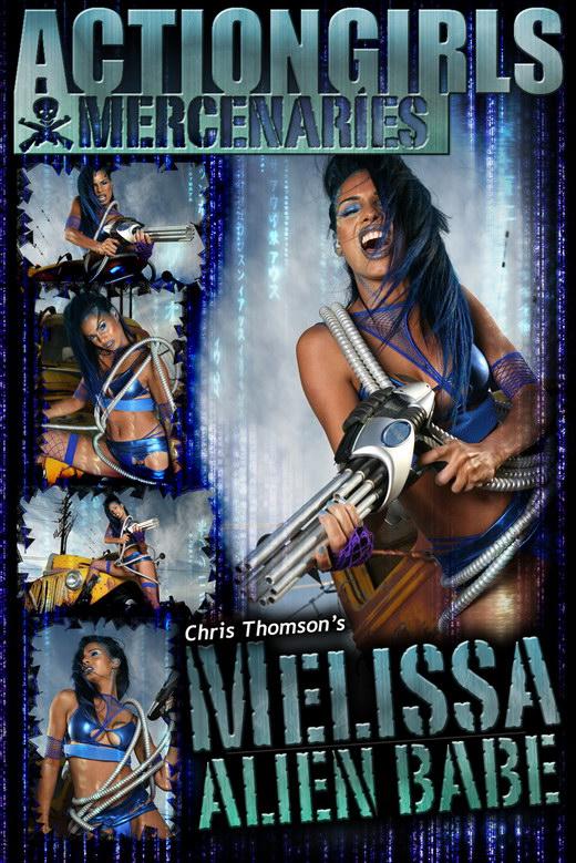 Melissa - `Alien` - by Chris Thomson for ACTIONGIRLS MERCS