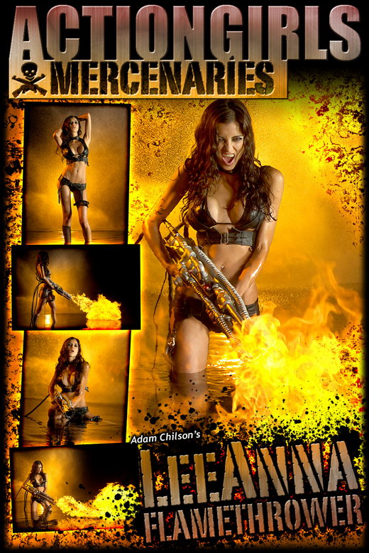 Leeanna - `Flamethrower` - by Adam Chilson for ACTIONGIRLS MERCS