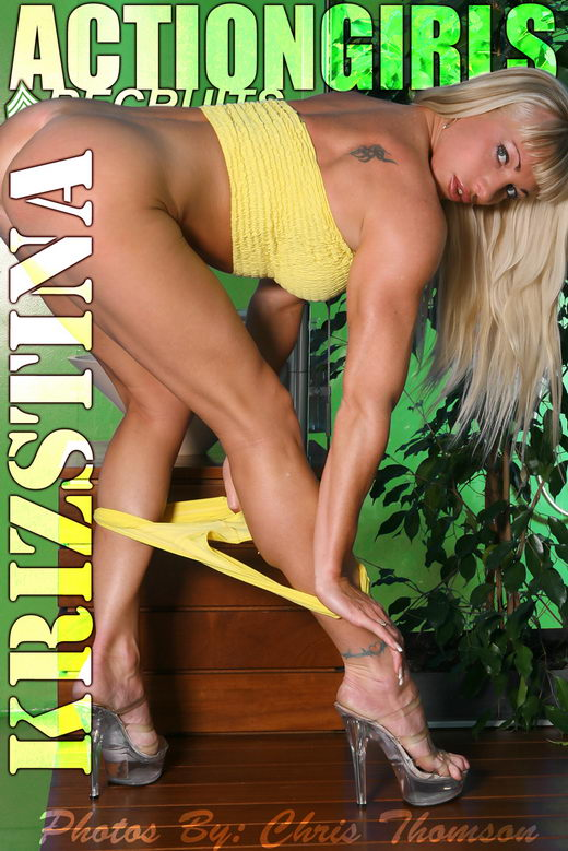 Krisztina - `Yellow` - by Chris Thomson for ACTIONGIRLS