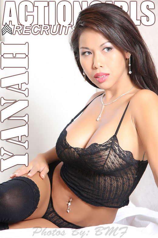 Yana - `Black Lingerie` - for ACTIONGIRLS
