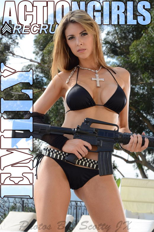 Emily - `Black Bikini` - for ACTIONGIRLS