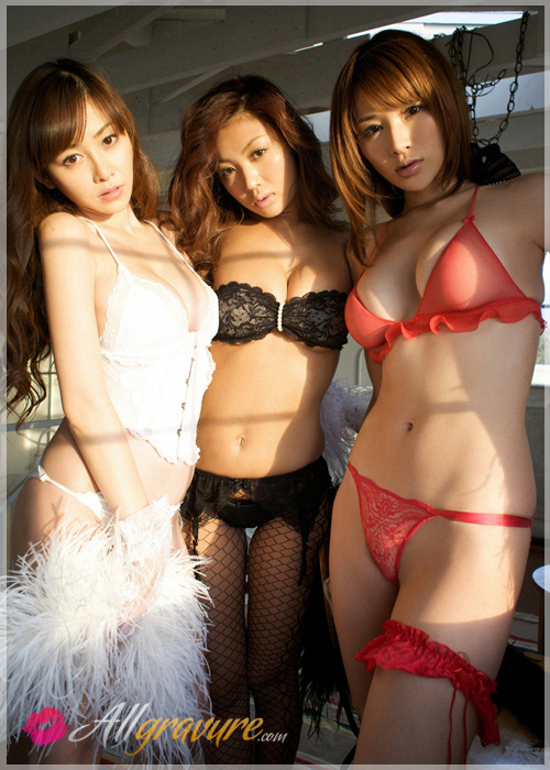 Anri Sugihara & Kana Tsugihara & Tejima - `You Beauties Three` - for ALLGRAVURE