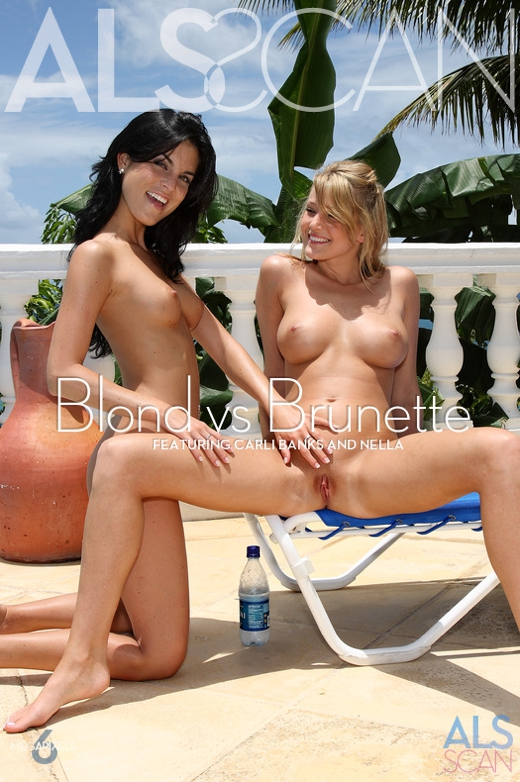 Carli Banks & Nella - `Blond vs Brunette` - for ALS SCAN