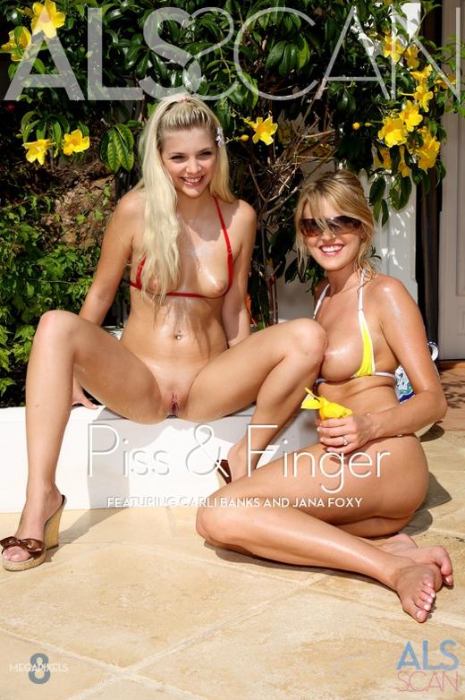 Carli Banks & Jana Foxy - `Piss & Finger` - for ALS SCAN