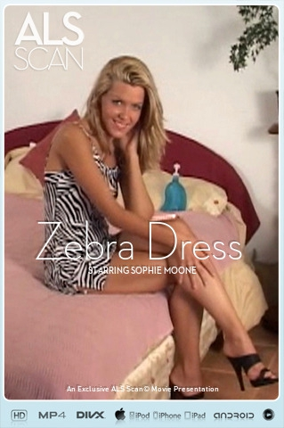 Sophie Moone - `Zebra Dress` - for ALS SCAN