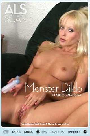 Jana Cova - `Monster Dildo` - for ALS SCAN