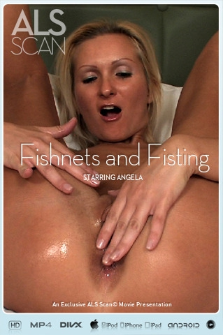 Angela - `Fishnets and Fisting` - for ALS SCAN