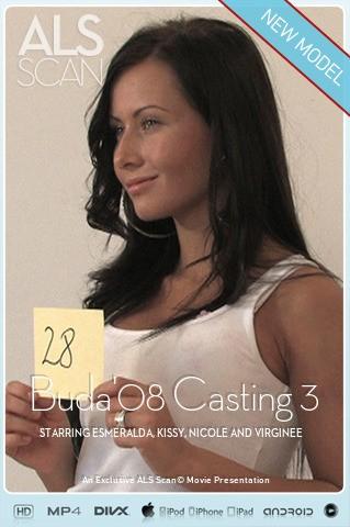 Esmeralda & Kissy & Nicole & Virginee - `Buda'08 Casting 3` - for ALS SCAN