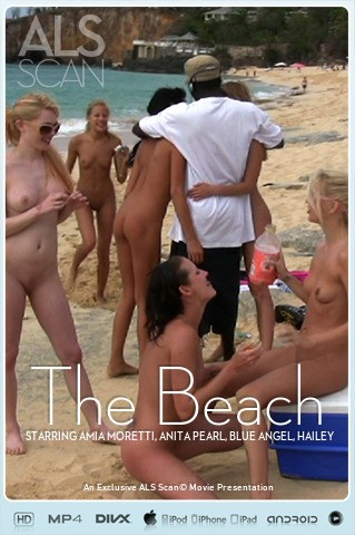 Amia Moretti & Anita Pearl & Blue Angel & Hailey Young & Jana Foxy & Jayme Langford & Tanner Mayes - `The Beach` - for ALS SCAN
