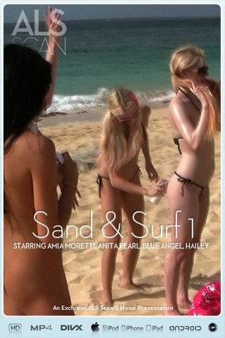 Amia Moretti & Anita Pearl & Blue Angel & Hailey Young & Jana Foxy & Jayme Langford & Tanner Mayes - `Sand & Surf 1` - for ALS SCAN
