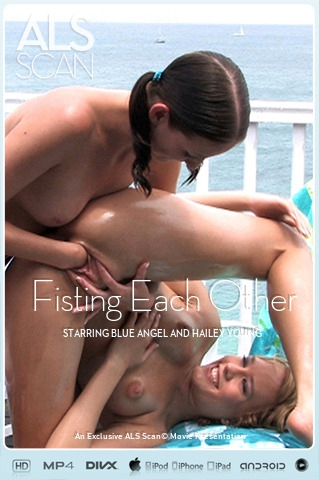 Blue Angel & Hailey Young - `Fisting Each Other` - for ALS SCAN