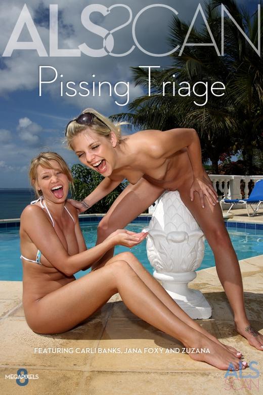 Carli Banks & Jana Foxy & Zuzana - `Pissing Triage` - for ALS SCAN