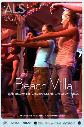 Amy Lee & Carli Banks & Faith & Jana Foxy & Nella & Zuzana - `Beach Villa` - for ALS SCAN