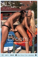 Amber Rayne & Boroka in Broom video from ALS SCAN