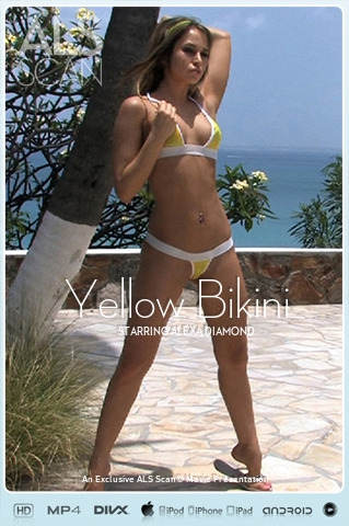 Alexa Diamond - `Yellow Bikini` - for ALS SCAN