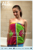Amirah in Stimulating Shower video from ALS SCAN